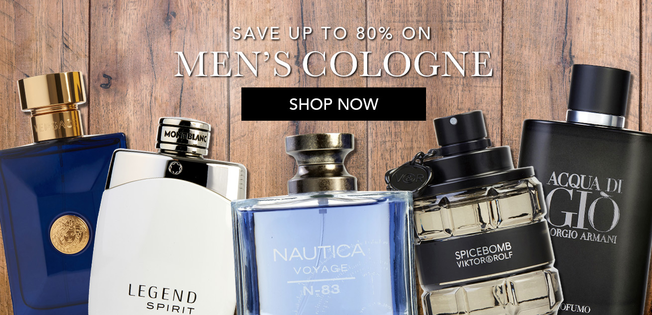 Save up to 80% on Men's cologne, shop now