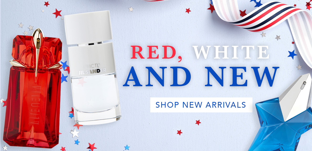 Red, white and new, shop new arrivals