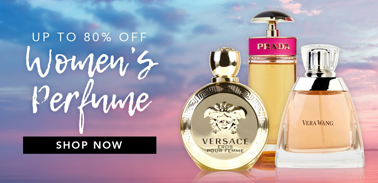 Up to 80% off women's perfume, shop now