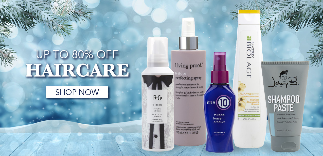 Up to 80% off Haircare, Shop now