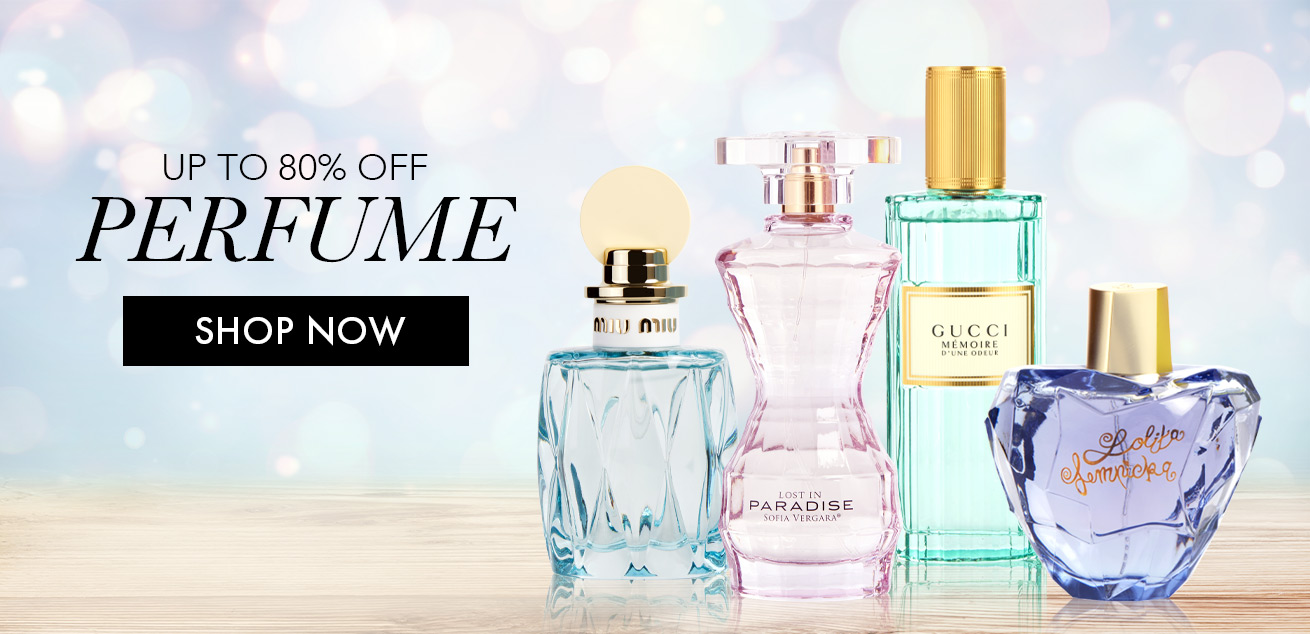 up to 80% off perfume, shop now