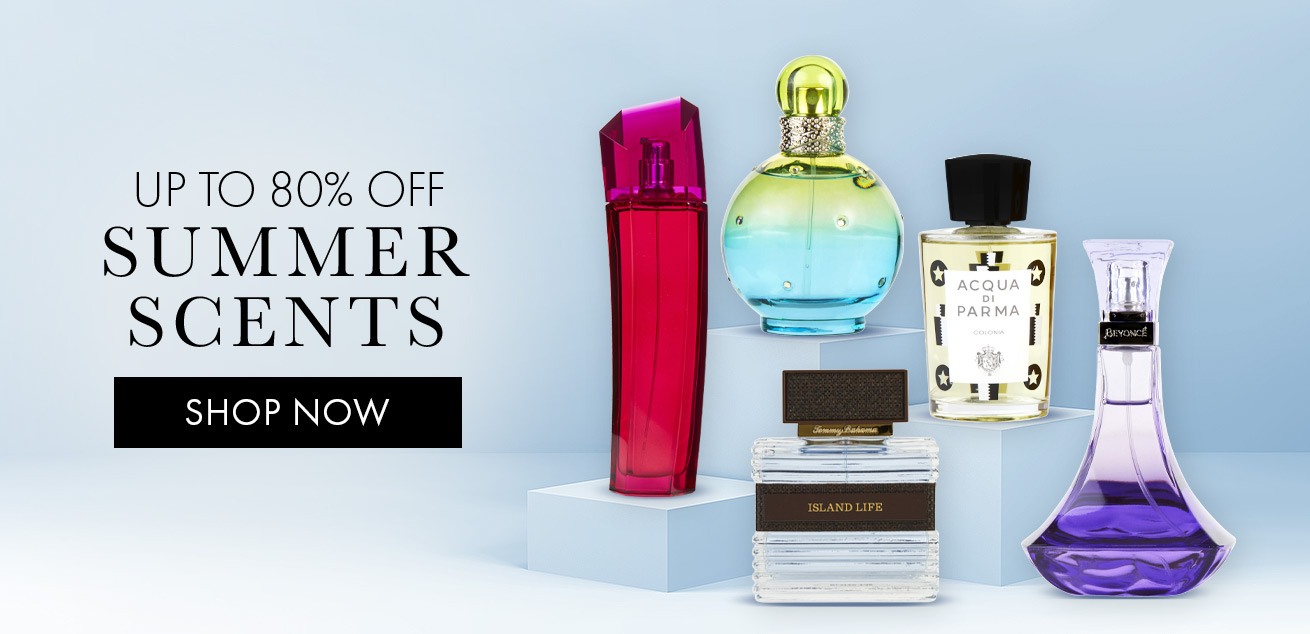 up to 80% off summer scents, shop now