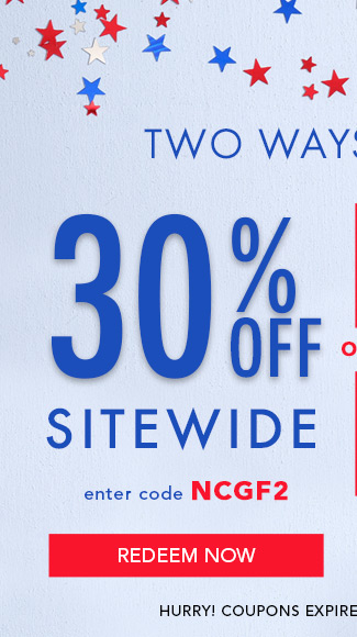 30% Off Sitewide. Enter code NCGF2. Redeem Now. Hurry! Coupon expires 5/25/20 at 11:59 PM EDT