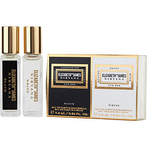 Nirvana   2 Piece With Nirvana Black & Nirvana White And Both Are Eau De Parfum Rollerball 0.24 Oz Mini by Elizabeth And James