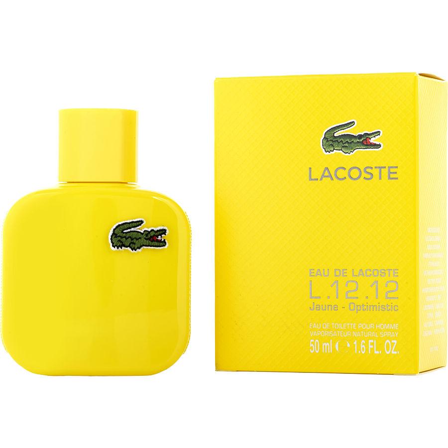 tanie z rabatem Los Angeles ograniczona guantity Lacoste Eau De Lacoste L.12.12 Jaune Optimistic Eau De Toilette Spray 3.3 oz